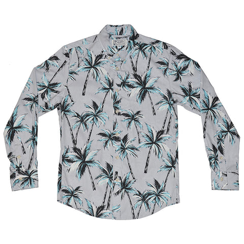 Men's Electric Palms Long Sleeve Aloha Shirt