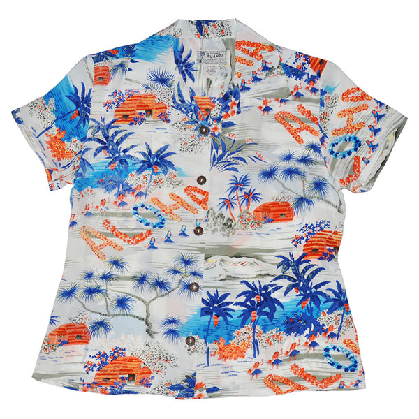 Women's Aloha Hawaii Hawaiian Shirt