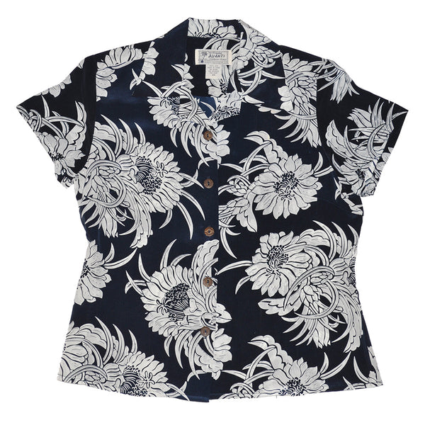 Women's Night Blooming Cereus Hawaiian Shirt