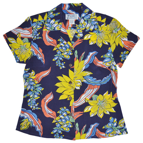 Women's Big Floral Hawaiian Shirt