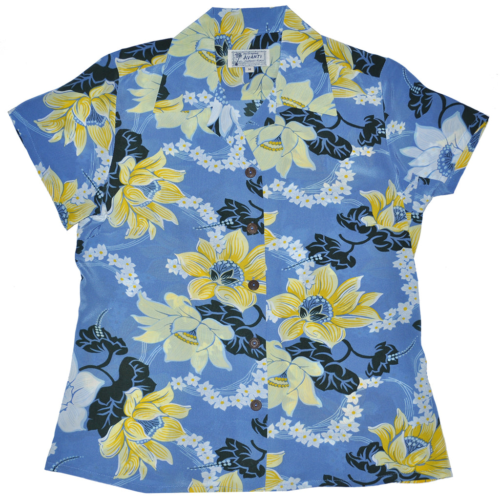 Women's Keanu Hawaiian Shirt - Blue