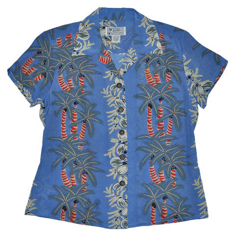 Women's Coconut Palm Hawaiian Shirt
