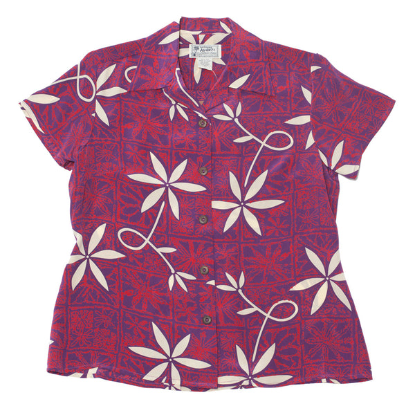 Women's Blue Hawaii Hawaiian Shirt