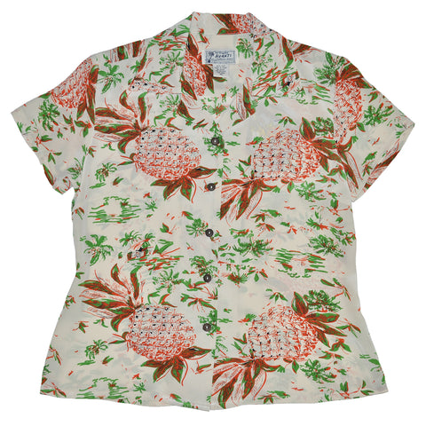 Women's Pineapple Hut Hawaiian Shirt