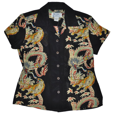 Women's Dragon & Tiger Hawaiian Shirt