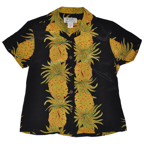 Women's Pineapple Cross Hawaiian Shirt