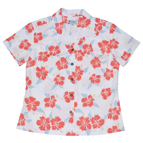 Hibiscus Trails (Women's Shirt) - Sheer Pink