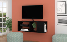Load image into Gallery viewer, Minetta Floating Entertainment Center in Black
