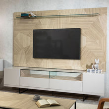 Load image into Gallery viewer, Celine TV Stand & Panel Off White and Nude Mosaic Wood