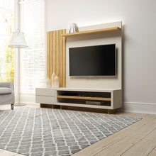 Load image into Gallery viewer, Cornwall Left Modular Entertainment Center Off White Cinnamon Light Brown