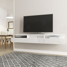 Load image into Gallery viewer, Cabrini 85.62 Half Floating Entertainment Center in White Gloss