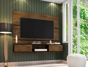 Vernon Floating Entertainment Center in Rustic Brown & Black