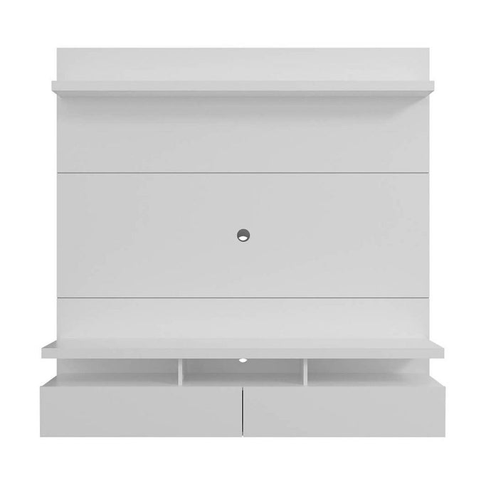City Floating Entertainment Center in White Gloss