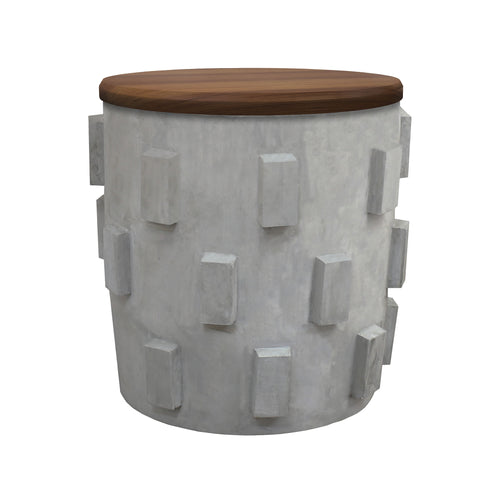 Lifestyle Concrete Accent Table