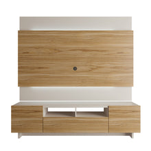Load image into Gallery viewer, Brill 2-Piece TV Stand and TV Panel in Cinnamon and Off White