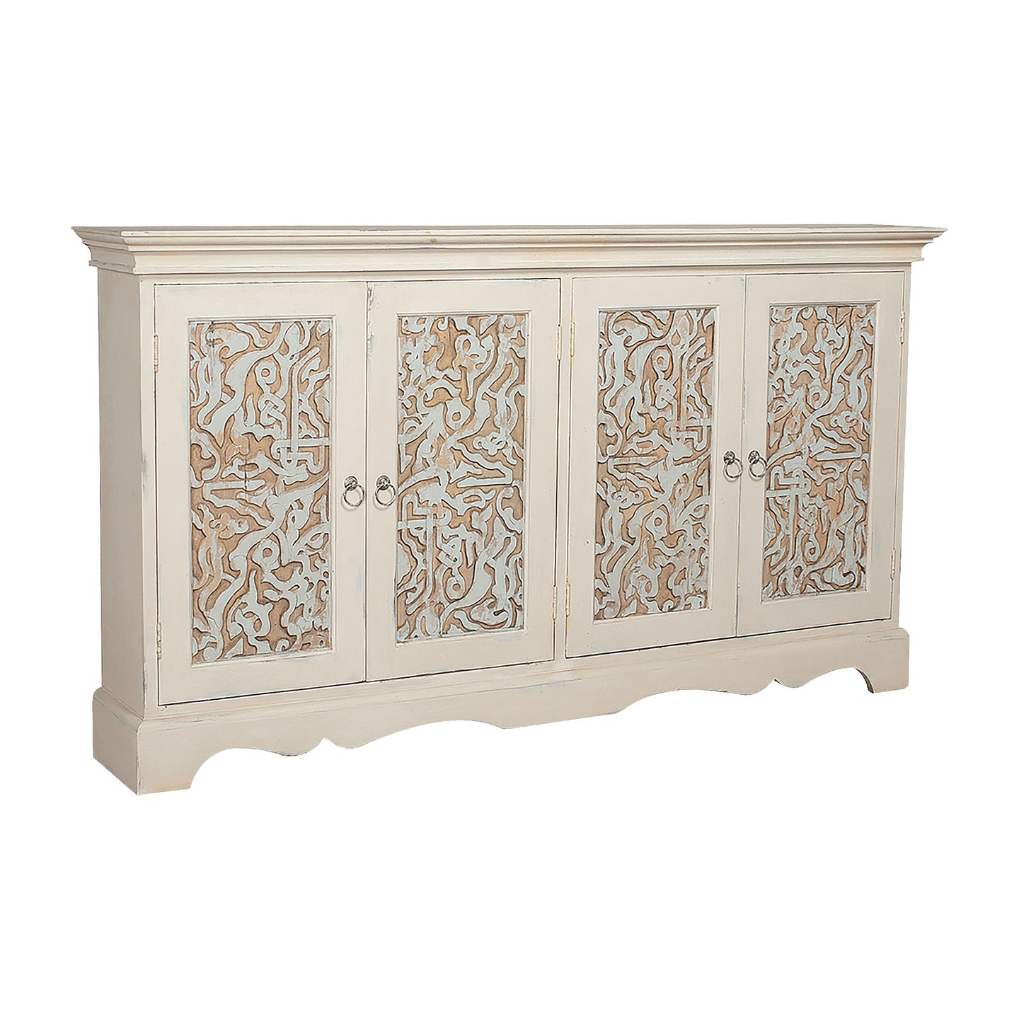 Waterfront 4-Door Cottage Credenza