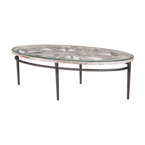 Farmhouse Oval Coffee Table