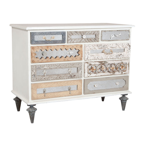Mosaic Lattice White Dresser