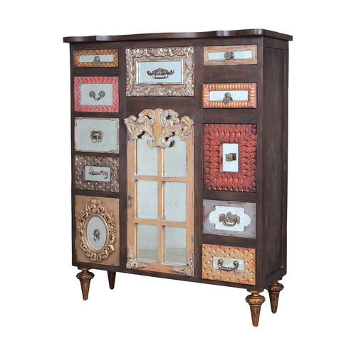 Mirror Mosaic Tall Chest