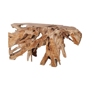 Teak Root Natural Console Table