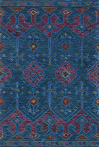 Justina Blakeney x Loloi Rug Gemology GQ-02 Blue/Plum