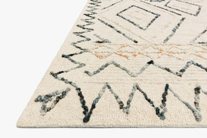 Justina Blakeney x Loloi Rug Leela Lee-02 Oatmeal/Denim