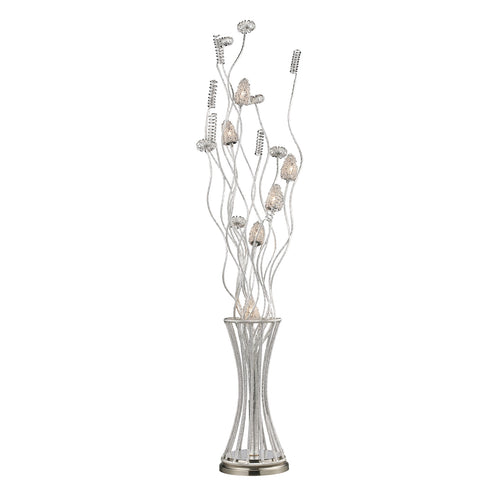 Silver Floral 6 Light Floor Lamp