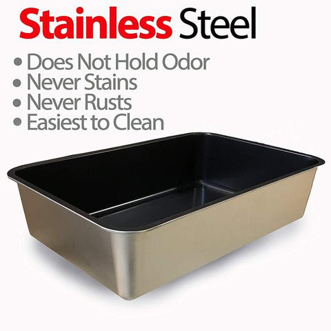 Cat Litter Stainless Steel Box