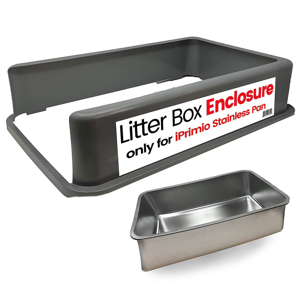 Plastic Cat Litter Box Enclosure - No clamps, fasteners.