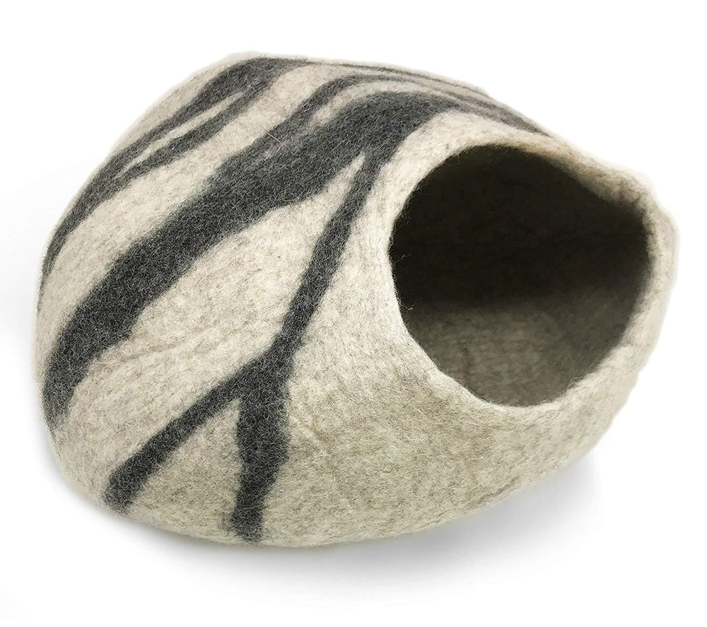 Natural Wool Large Cat, for Indoor Cozy Hideaway (40CM Bela Grey Cat Cave)