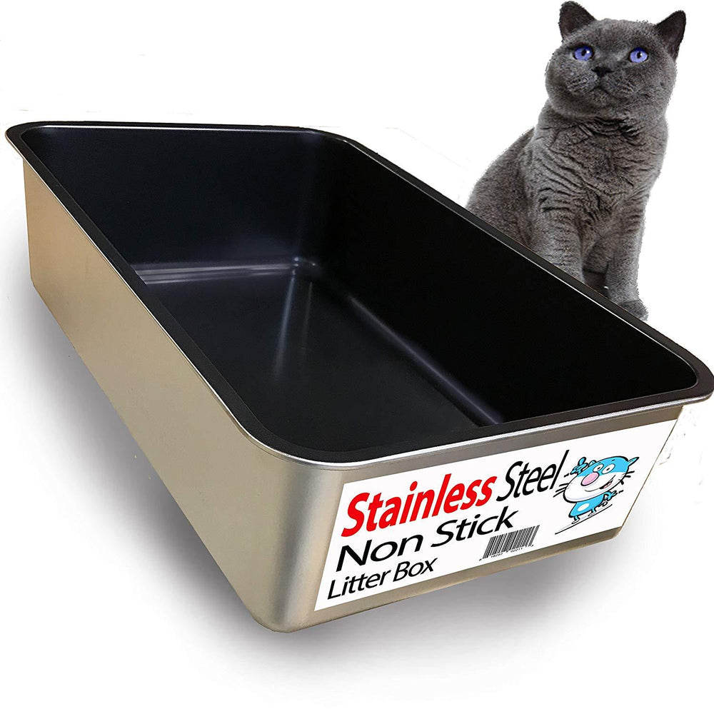 Cat Litter Stainless Steel Box, Rust Free (Non-Stick Plated)