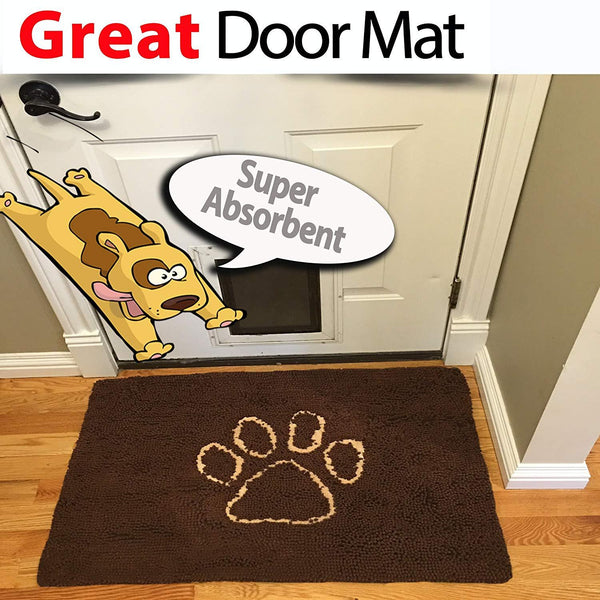 "Microfiber Door Mat, Super Absorbent (36""x26"")"