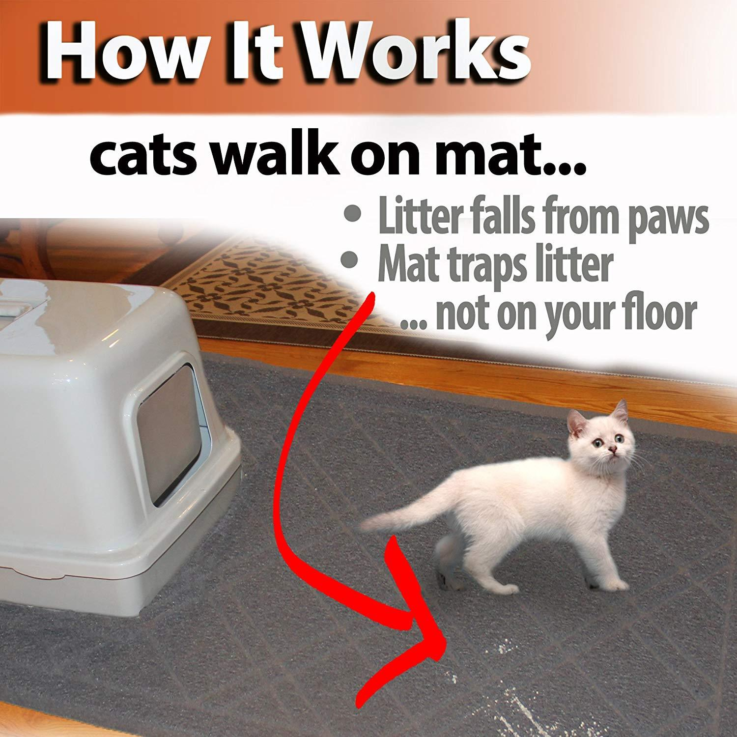 Cat Litter Trapper Mat Traps From Paws And Box 42 Quot X 36