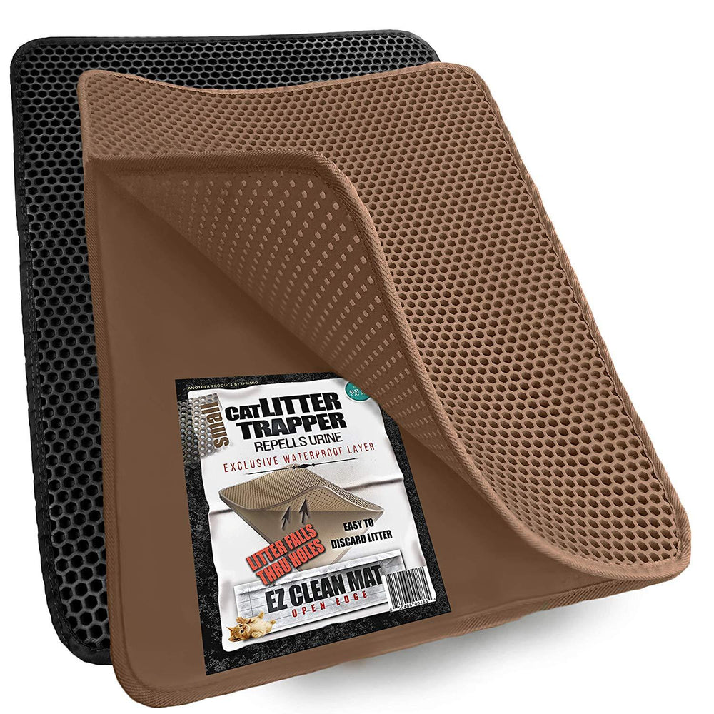 "Cat Litter Mat, Traps Litter from Paws & Box (23""x21"", Brown)"