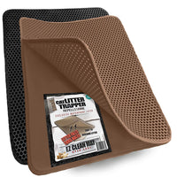 Cat Litter Mat, Traps Litter from Paws & Box (23