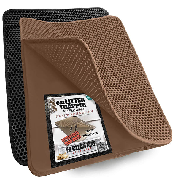 "Cat Litter Trapper Mat, Traps Litter from Paws and Box (23""x21"")"