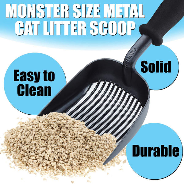 Scooper Monster Cat Litter Scoop, Sifter/Deep Shovel (Black)