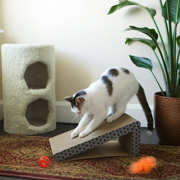 Cat Scratcher Ramp, Foldable for Travel and Easy Storage (2 Pack)