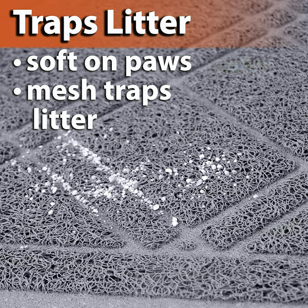 Cat Litter Trapper Mat,Traps Litter from Paws  (35 x 23.5 inches)