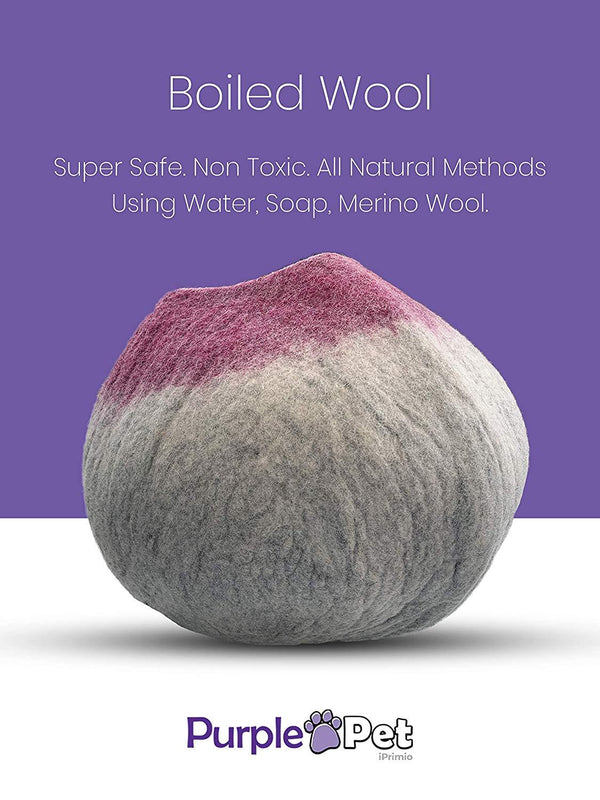 Natural Wool Large Cat, for Indoor Cozy Hideaway (Wine Tip)