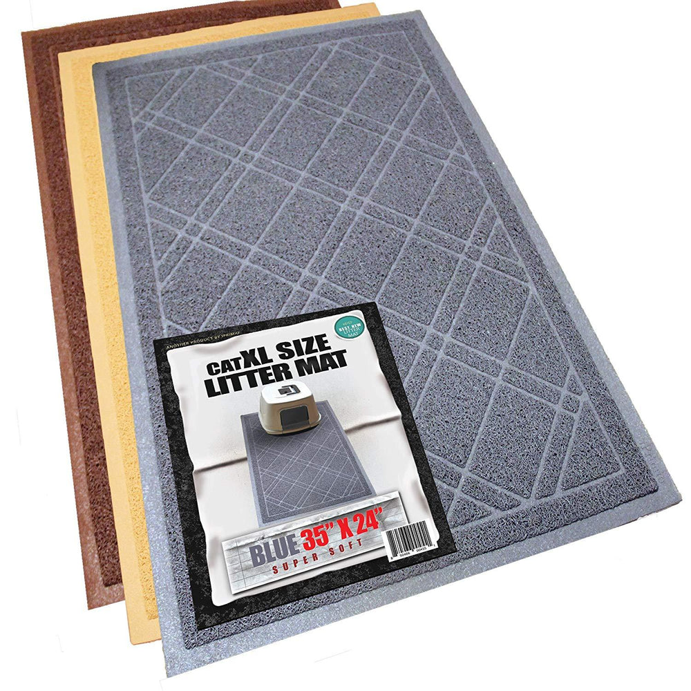 "Cat Litter Trapper Mat,Traps Litter from Paws  (35""x 23.5"", Gray)"