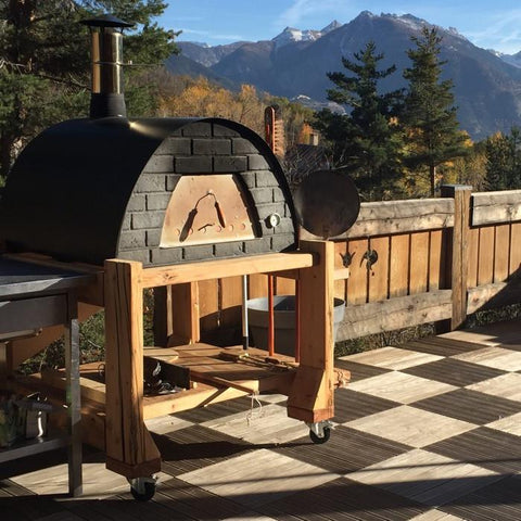 large portable wood fired pizza oven prime red or black