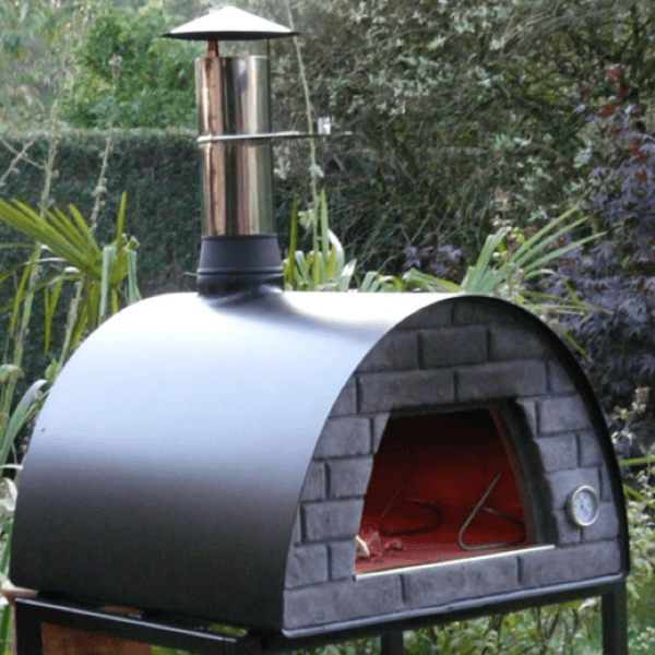 medium portable wood fired pizza oven maximus red or black u2013 my backyard center