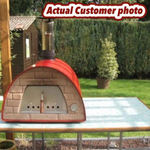 High Quality ... Medium Portable Wood Fired Pizza Oven Maximus Red Or Black ...