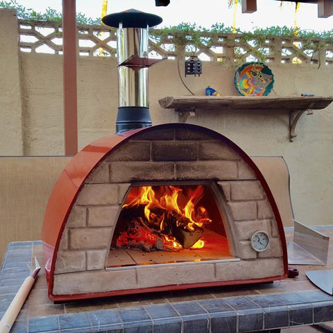 Medium Portable Wood Fired Pizza Oven Maximus Red Or Black