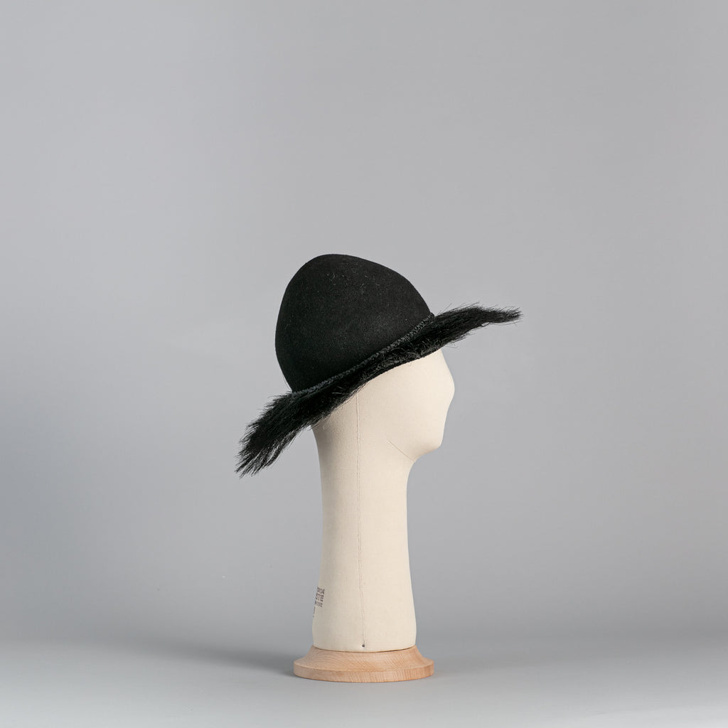 Black Felt and horsehair Hat ∞ Nikole Tursi