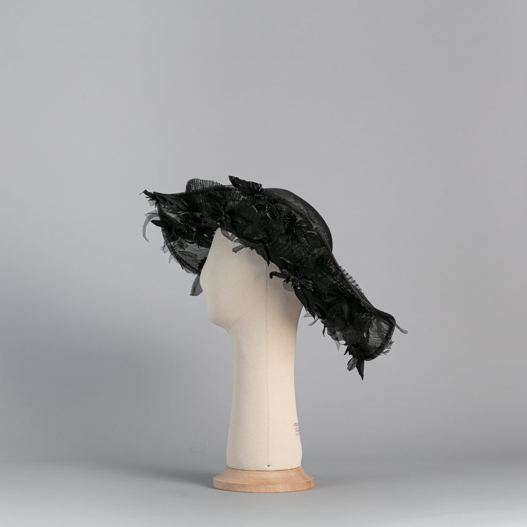 Black Flowered Capeline ∞ Nikole Tursi