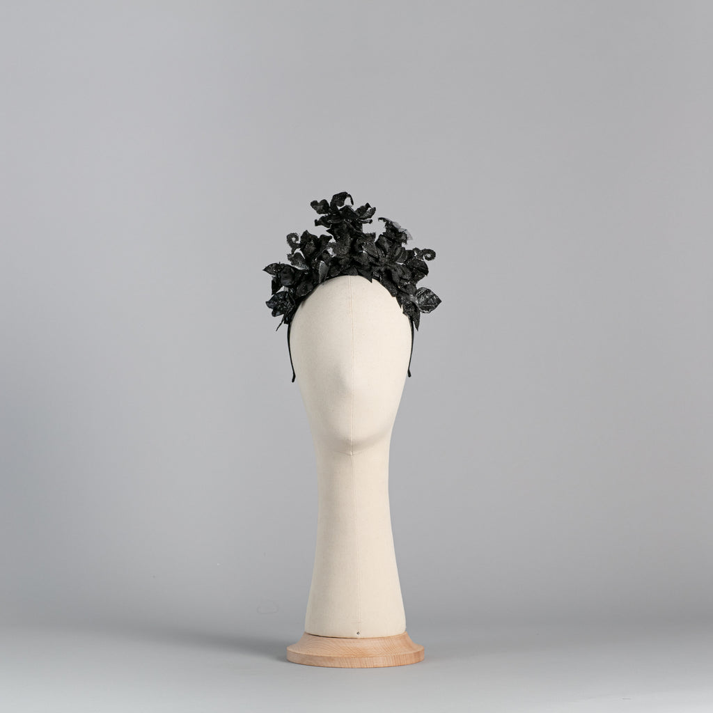 Black Flower Headpiece