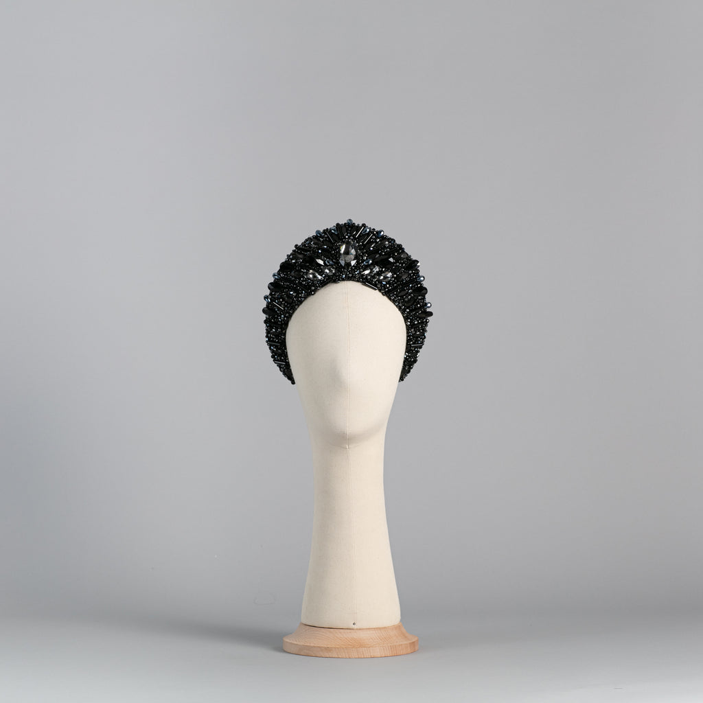 Embroidered Black Crown crystals embroidery