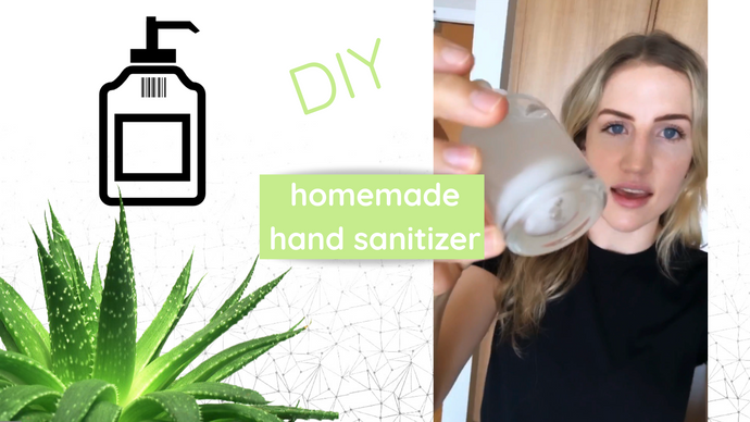 How to make natural homemade hand sanitizer - DIY